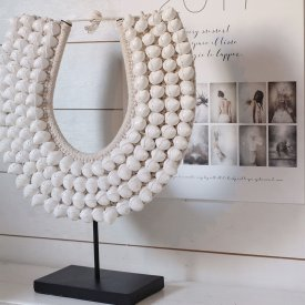 Snäckdekoration, halsband, White Shell