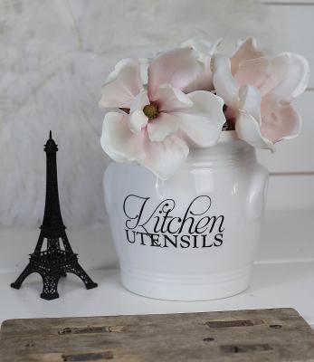 kitchen utensils canister rivi 232 ra maison alla produkter ceramic star and berry canister crock utensil holder