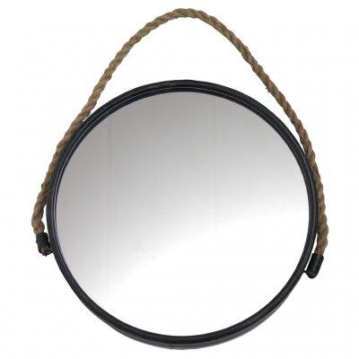 Rund spegel svart