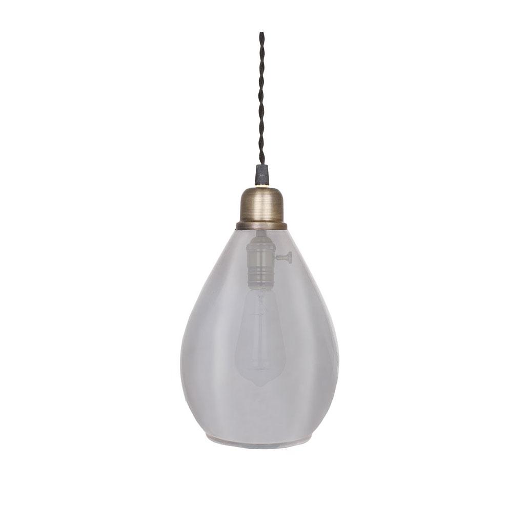 Taklampa Glas Agnes Medium, Droppformad lampa