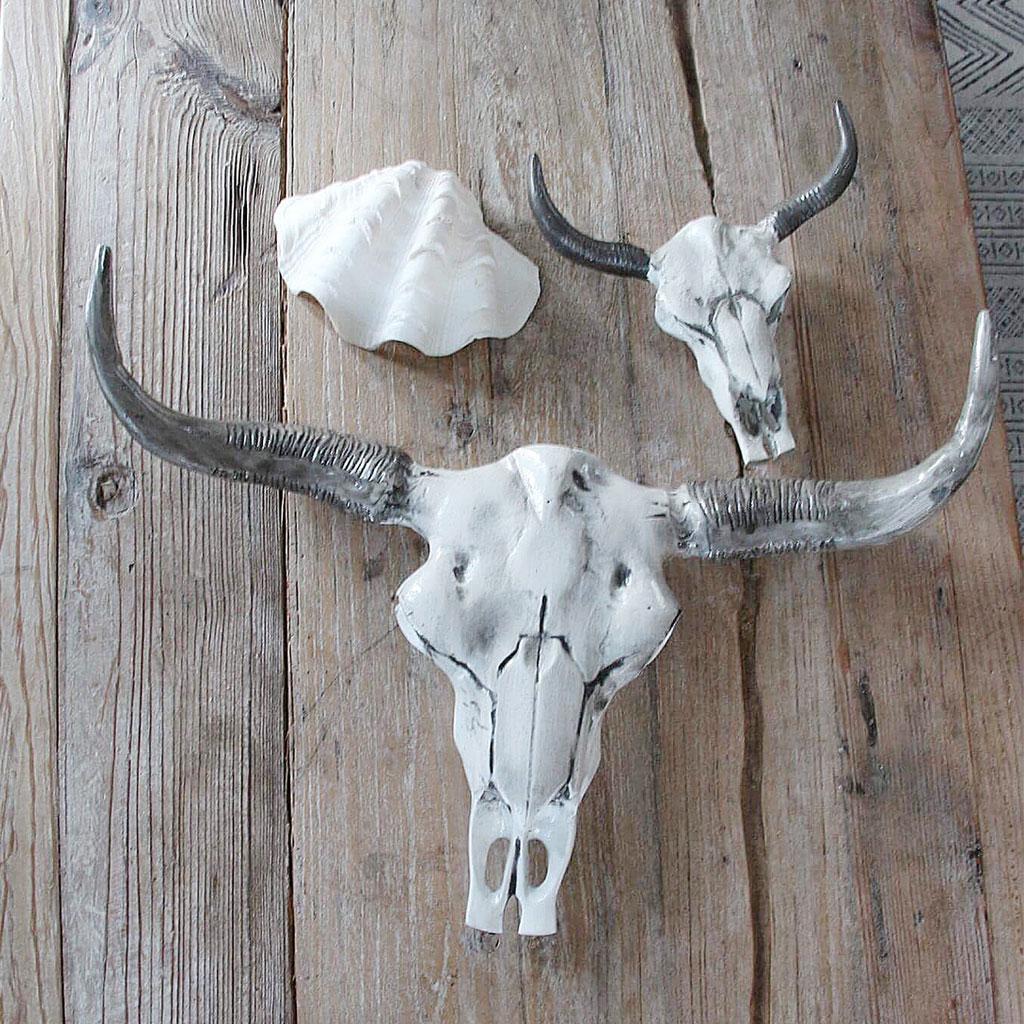 bull skull wall decor white grey senaste nytt. Black Bedroom Furniture Sets. Home Design Ideas