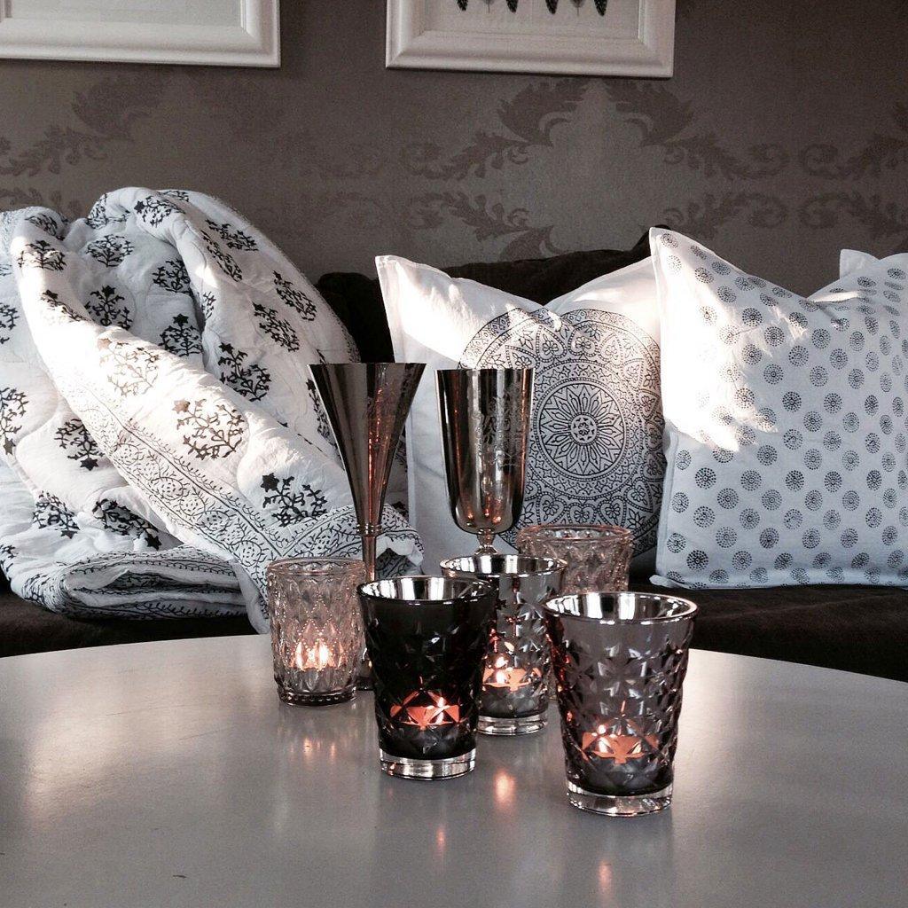 ljuskopp mirror facet metalliclook grey tine k home. Black Bedroom Furniture Sets. Home Design Ideas