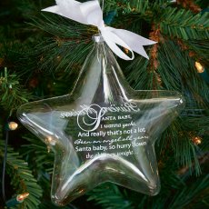 Santa Baby Star Ornament