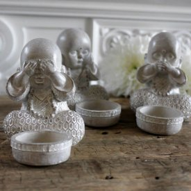 Buddhafigurer See/Hear/Speak No evil, Majas Cottage