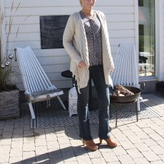 Chapman Cardigan Sand Melange, Capri Collection