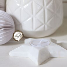 Dove star tealight white marble, Pb Home