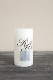 Frosted Candle Whisper White 13x7, Riviera Maison