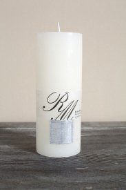 Frosted Candle Whisper White 18x7, Riviera Maison