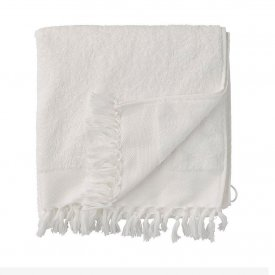 Handduk Day Fringe Terry Towel, fransar, vit, Day Home
