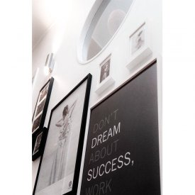 Vacker poster, prints Don´t Dream about success, work for it, från svenska By M
