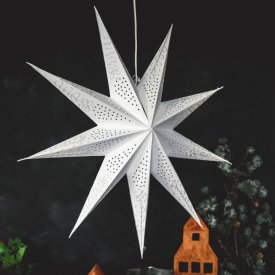 Julstjärna Star Crochet 9 points 60 cm White, Majas Cottage