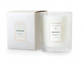 Mokara Boxed Scalloped Candle 50 tim, Voluspa