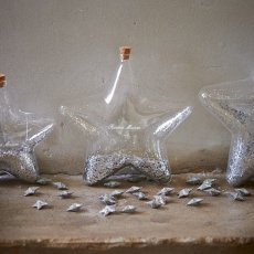 Big Star Decoration Bottle silver M