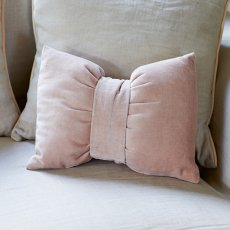 Cambon Bow Pillow dustyprink 40x30
