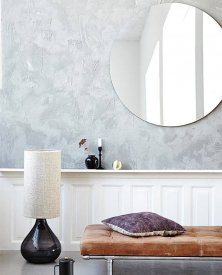 Rund spegel, gråtonad, 80 cm, Wall mirror, House Doctor