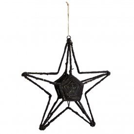 Star Ornament, Jute, Large, Madam Stoltz