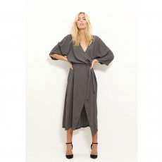 Hia Wrap Dress Antracite, Vintage By Fe