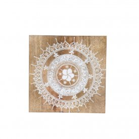 Wood Board, Mandala, 20x20 cm, Cozy Room/Sika Design