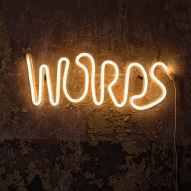 Words, led wall-lamp