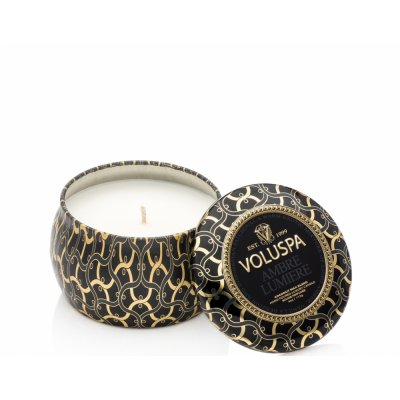 Voluspa doftljus Ambre Lumiere, Dec tin mini
