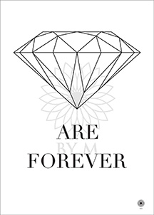 Posters, Artprints, Diamond are forever, By M