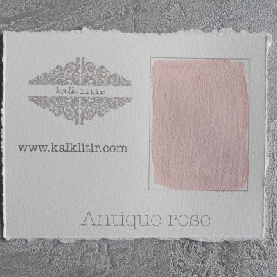 Färgprov Antique Rose, Kalklitir