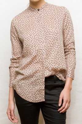Frances Blouse Black Dot Vintage By Fé
