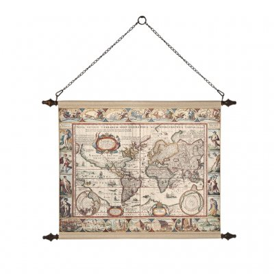Globetrotter, World map, världskarta vintage