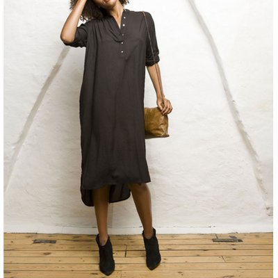 Godiva Shirtdress Black, Vintage By Fé