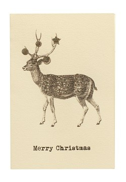 Julkort, Greeting Card, Deer, Vanilla Fly