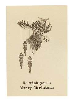 Julkort, Greeting Card, Moose, Vanilla Fly