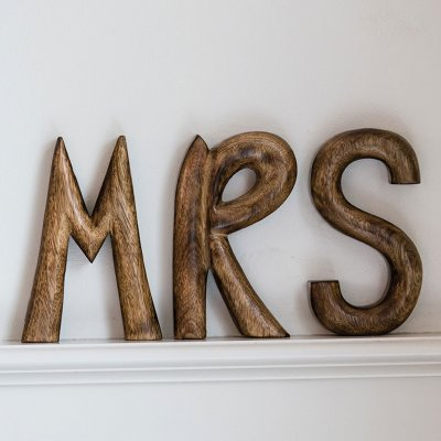 Mrs Wooden Sign, Riviera Maison
