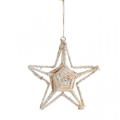 Star Ornament, Jute, Medium, Natur, Madam Stoltz