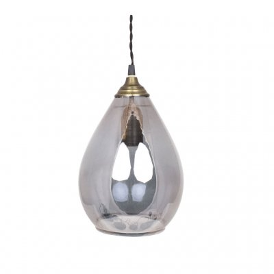 Taklampa Glas Agnes Large, Droppformad lampa