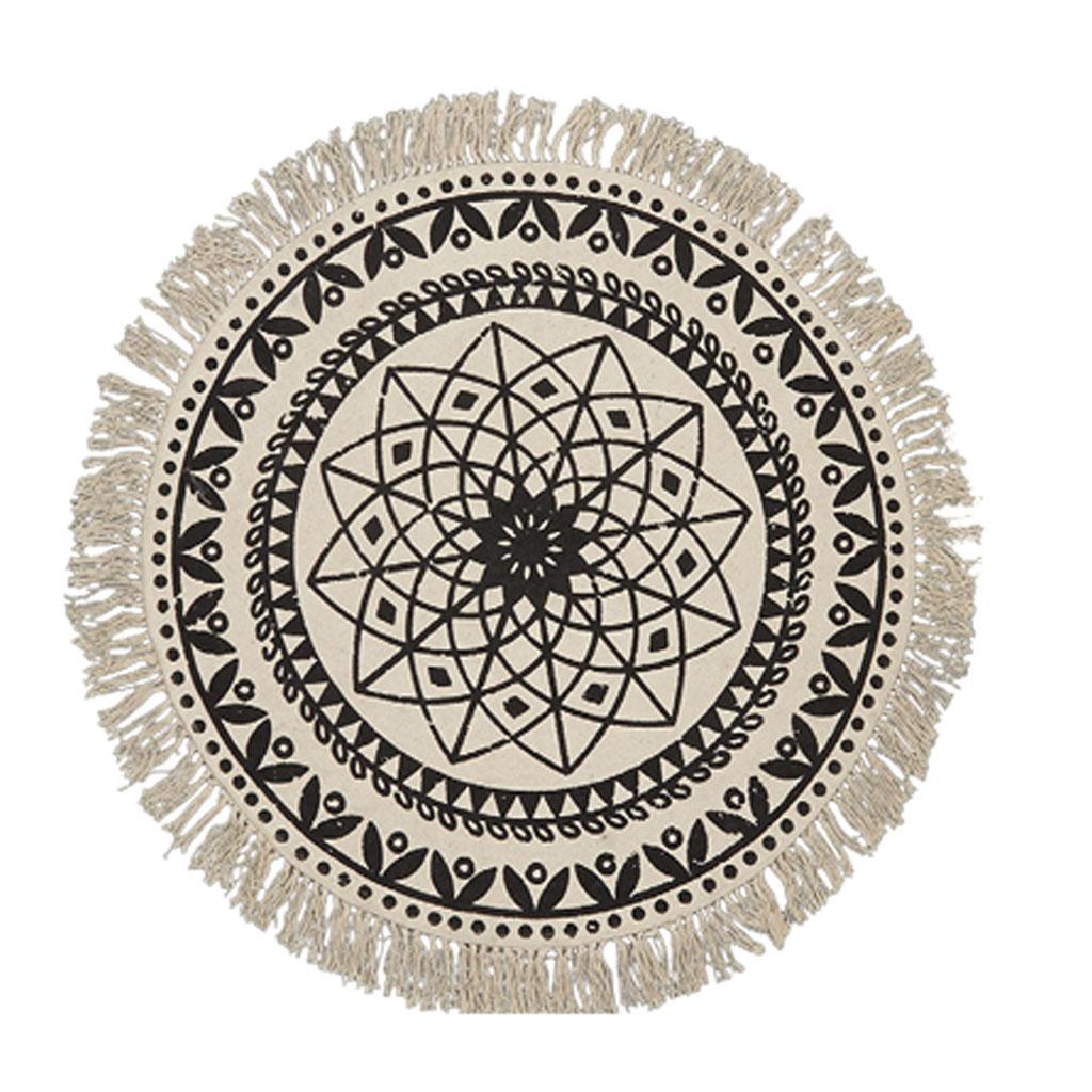 rund matta med stjärna